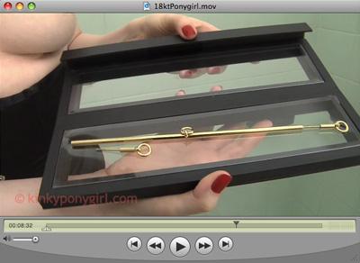 KinkyPonygirl 18kt Gold Nipple Bar